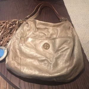 Tori Burch Gold Hobo Bag